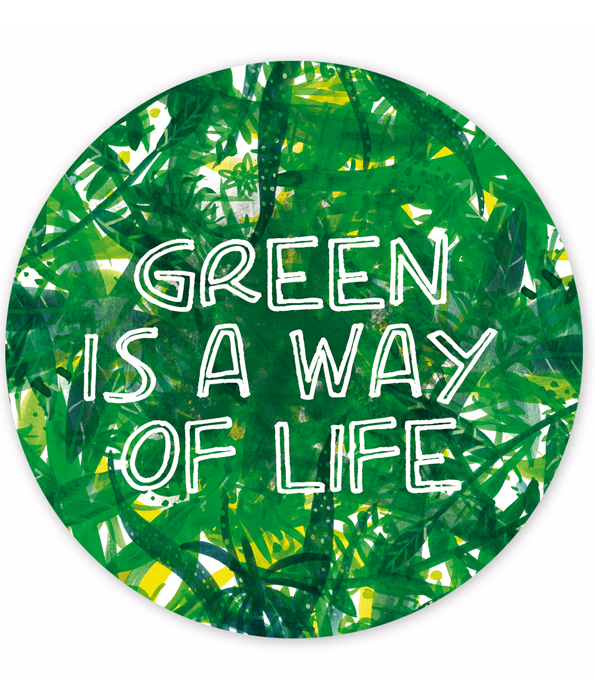 Logo green is a way of life