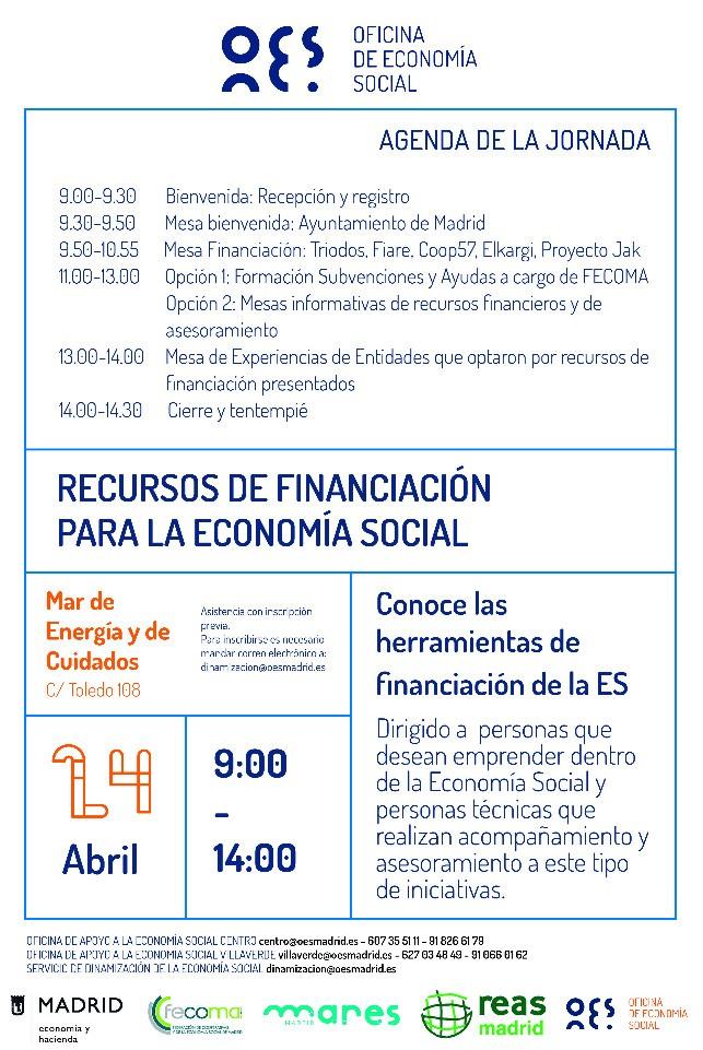 Jornada de presentación de recursos de financiación para la economía social